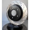 Centric StopTech Drilled/Slotted Rear Rotor Left